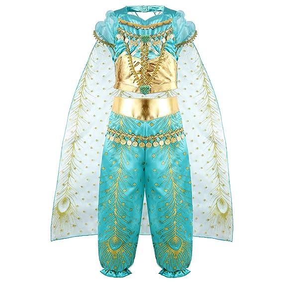 vamei Disfraz Niña Jasmine Princesa Vestido Traje Navidad ...