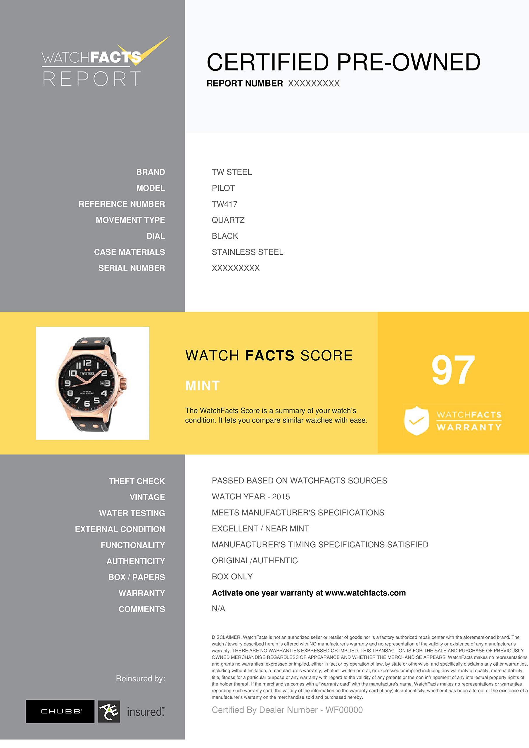TW Steel Pilot Quartz Male Watch TW417 (Certified Pre-Owned) by TW Steel (Image #2)