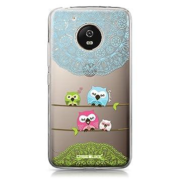 CASEiLIKE® Funda Moto G5, Carcasa Motorola Moto G5, Búho diseño gráfico 3318, TPU Gel Silicone Protectora Cover