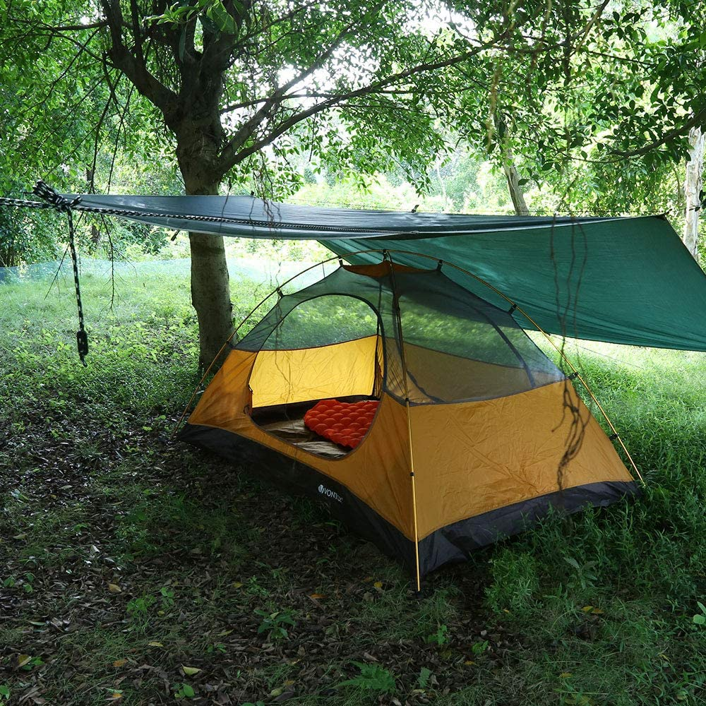 Zeltplane Tarp  3x3M  Moskitonetz  Camping  Tragbare  Zelt  Hammock