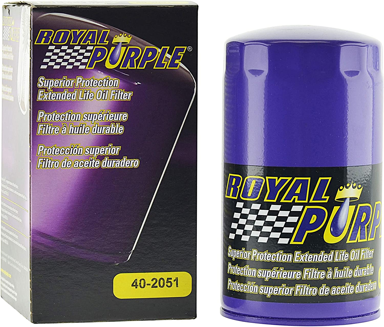 High Performance Premium Oil Filter 40-2051(FL2051S), Ford Super Duty Pickup 6.7L (2011-19), by Royal Purple