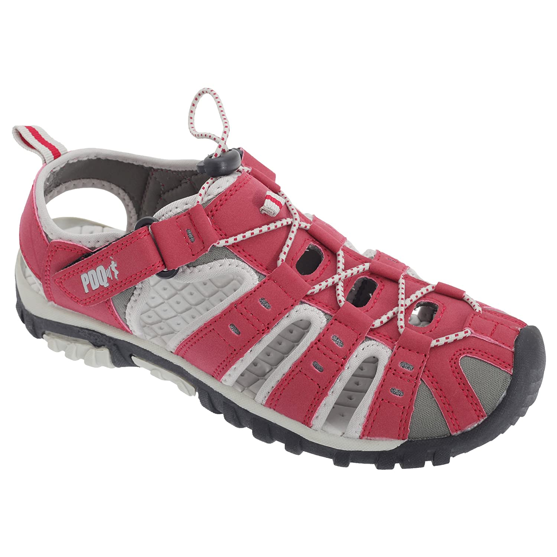 PDQ Damen Sport Sandalen mit Toggel und Klettverschluss (38 EU) (Grau/Fuchsia) zvgNuGsO