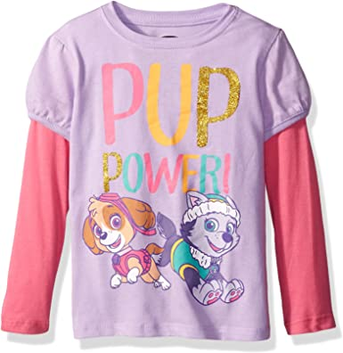 """GIRLS KIDS NICKELODEON PAW PATROL SKYE AND EVEREST PYJAMAS PJ/'S /""""PUP POWER/"""""""