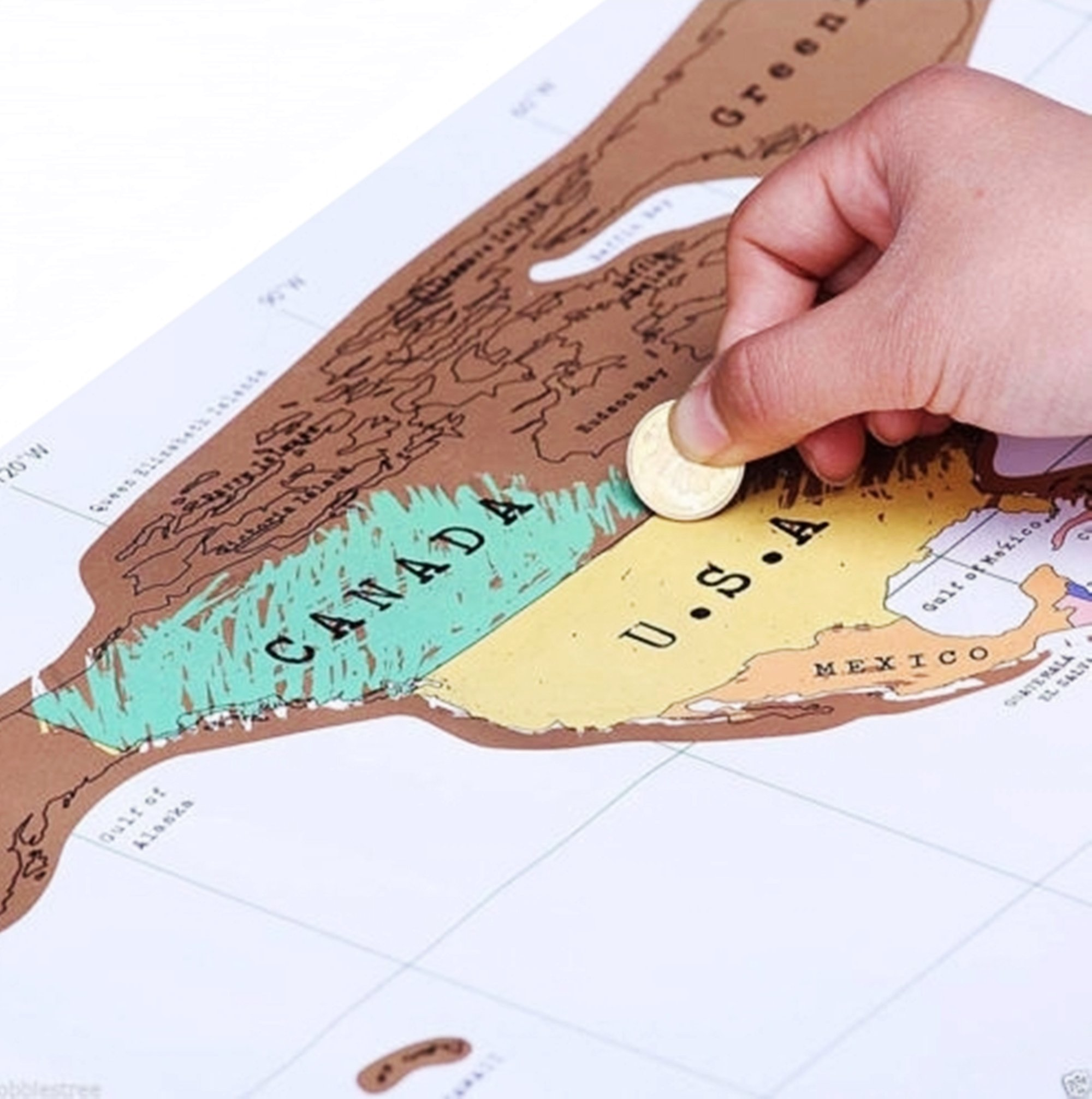 Scratch Off World Map, Easy to Learn Geography, to Track Your Travels and Wonderful for Home Decoration