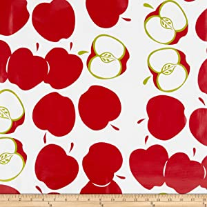 Oil Cloth International Oilcloth Solvang Red Fabric By The Yard