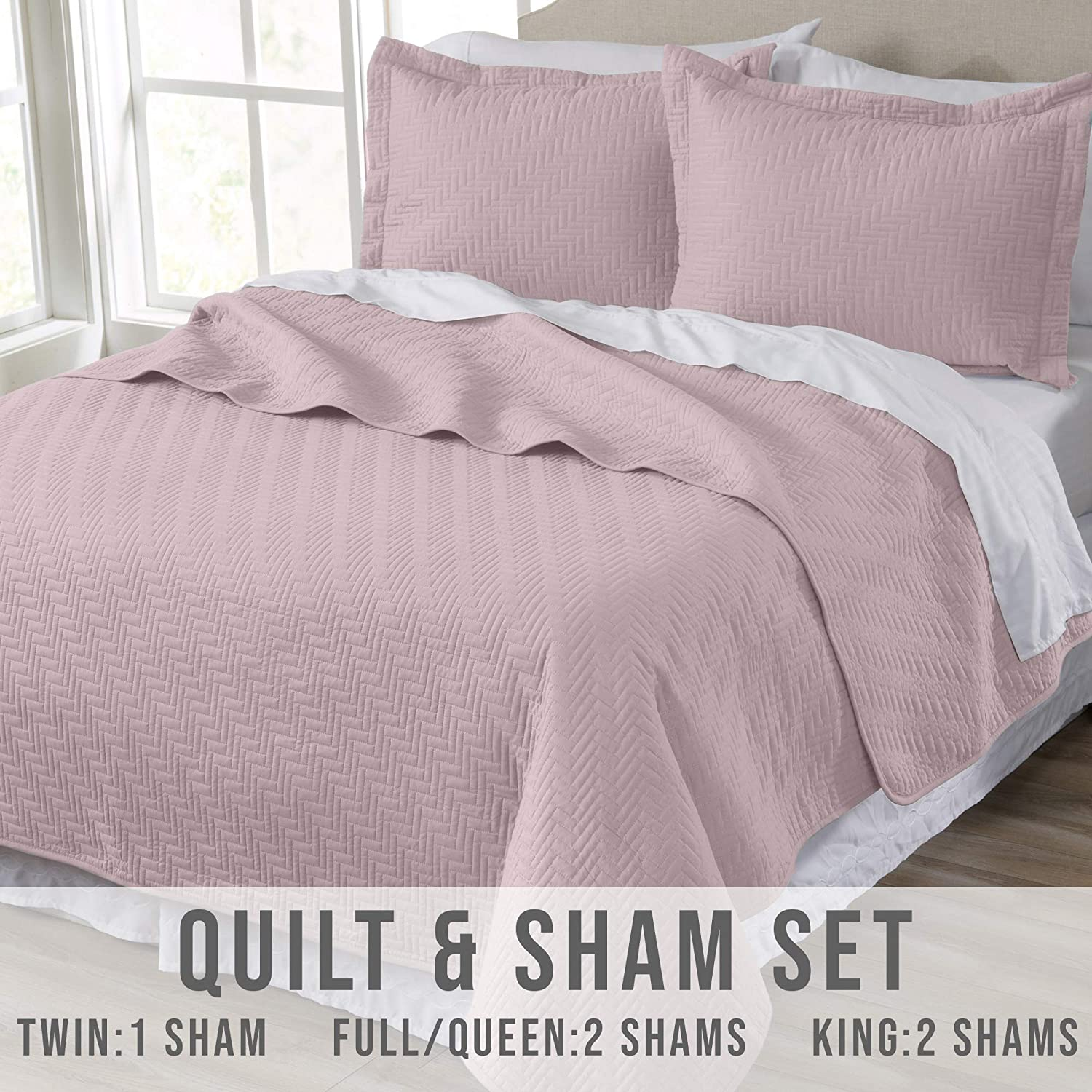 Emerson Luxury Oversized 3 Piece Coverlet Set Ornamental Design Solid Quilts