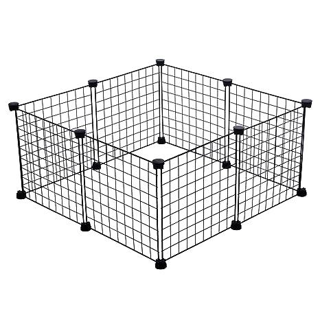 CagesCubes - Jaula CyC Mini para cobayas (2X2 Paneles en Negro ...