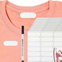 210 Pieces Writable Iron On Clothing Labels Iron Kids Clothing Labels Pre-Cut Iron On Clothing Name Labels with 1 Piece…