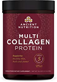 Ancient Nutrition Multi Collagen Protein Powder - Pure, Formulated by Dr. Josh Axe, 5 Types of Food Sourced Collagen Peptides