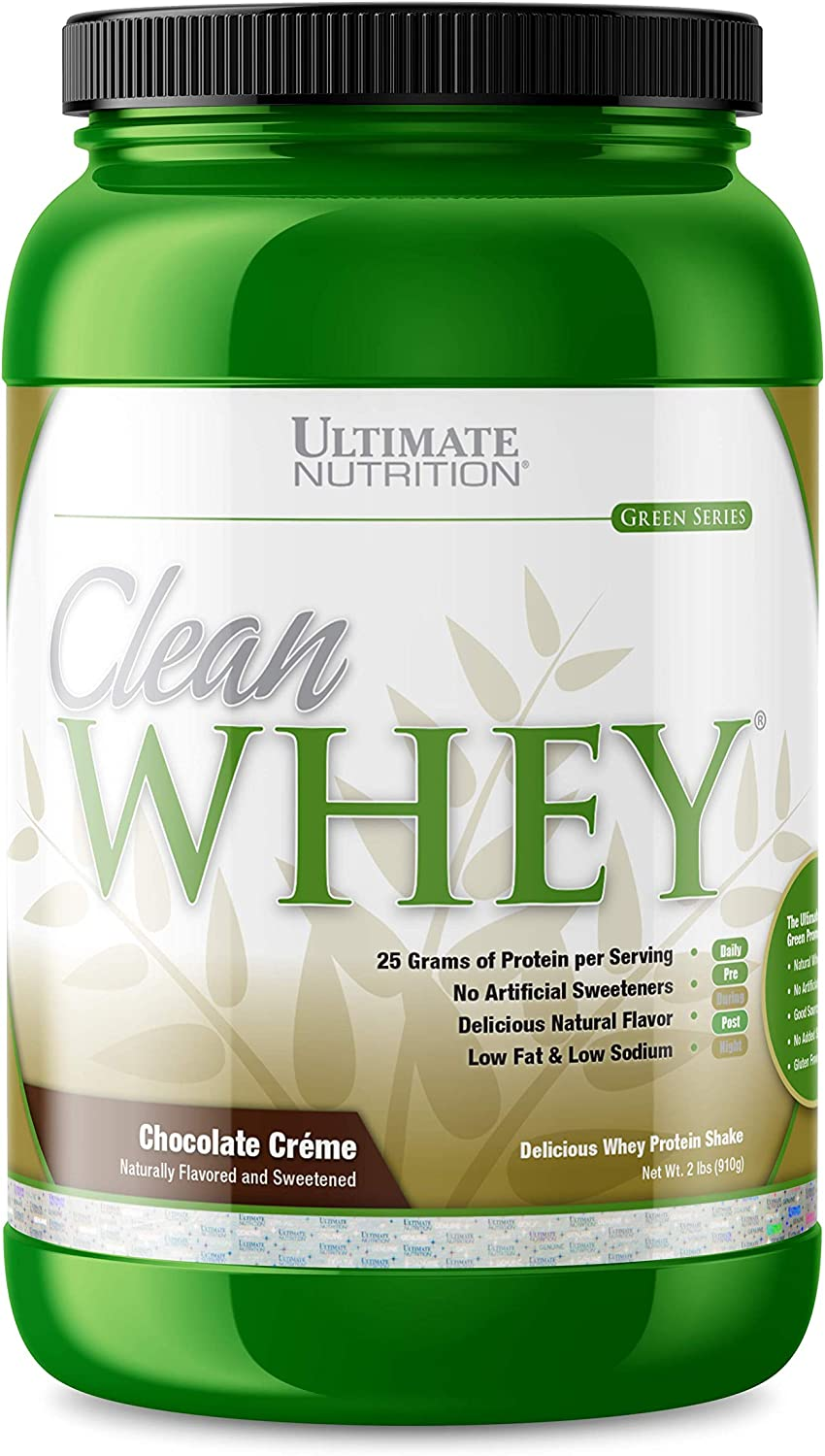Ultimate Nutrition Clean Whey Protein Naturally Sweetened Gluten Free, Great Tasting No Artificial Flavors or Added Sugar Chocolate Creme 2 Pounds