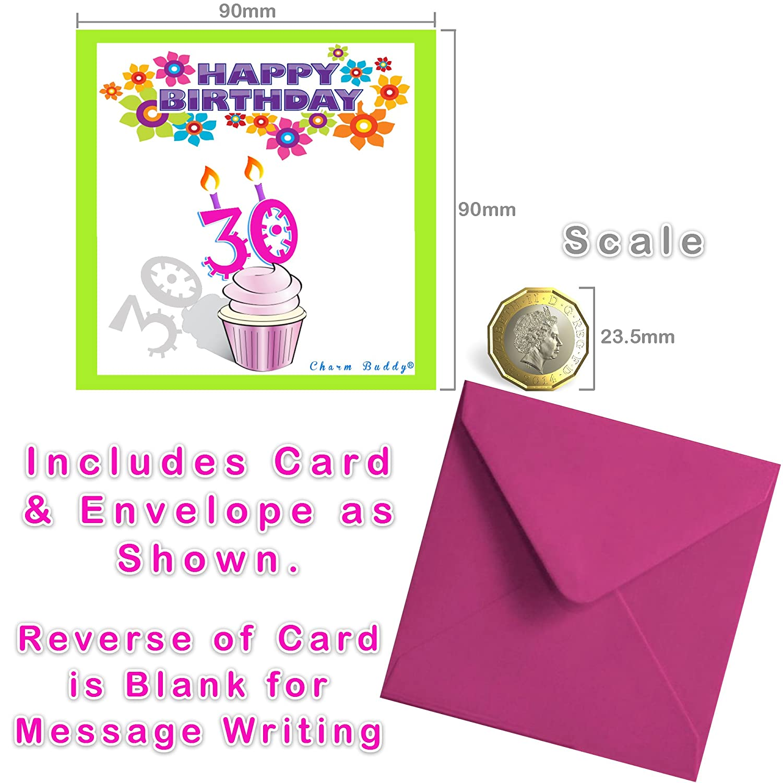 good 30th Birthday Sparkly Charm Bracelet Birthday Card and Gift – 30th Birthday Card Message