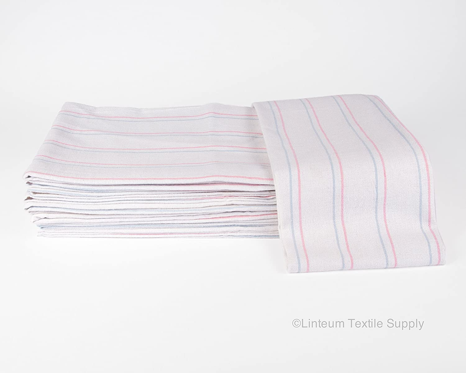Linteum Textile Receiving HOSPITAL BABY BLANKETS 36x36 in. 12-Pack Linteum Textile Supply LT3636BABY