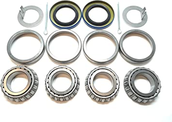 1 Inch K1-100 Boat Trailer Both Wheel Bearings And Seals Kit 2000 LB
