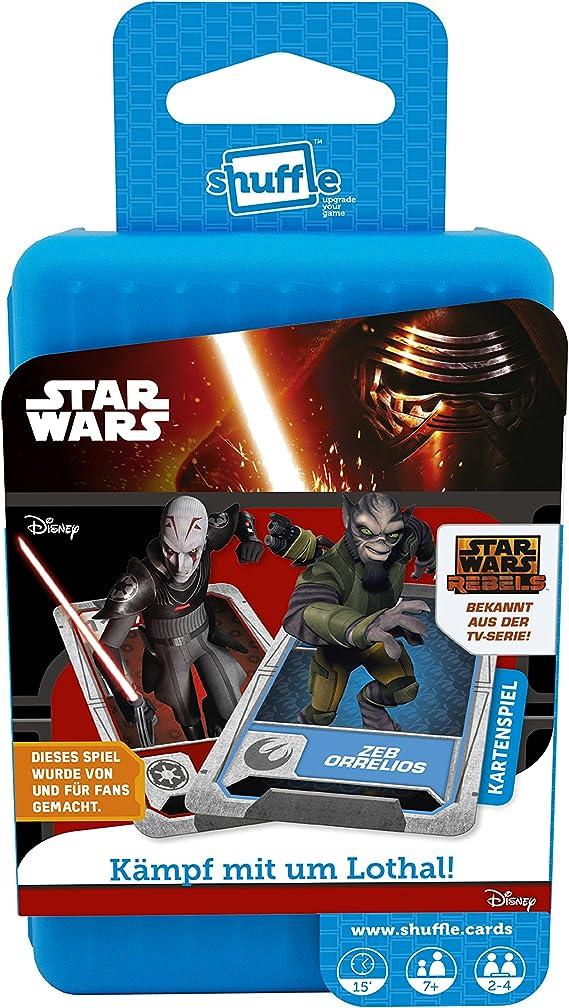 ASS Altenburger 22502712 – Shuffle – Juego de Cartas Star Wars Rebels: Amazon.es: Juguetes y juegos