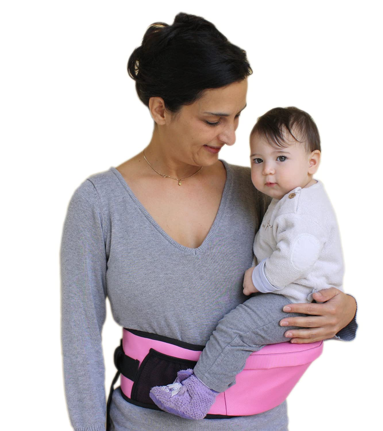 Pomfitis Side Ride Baby Toddler Kid Child Hip Seat Carrier, Black G8766