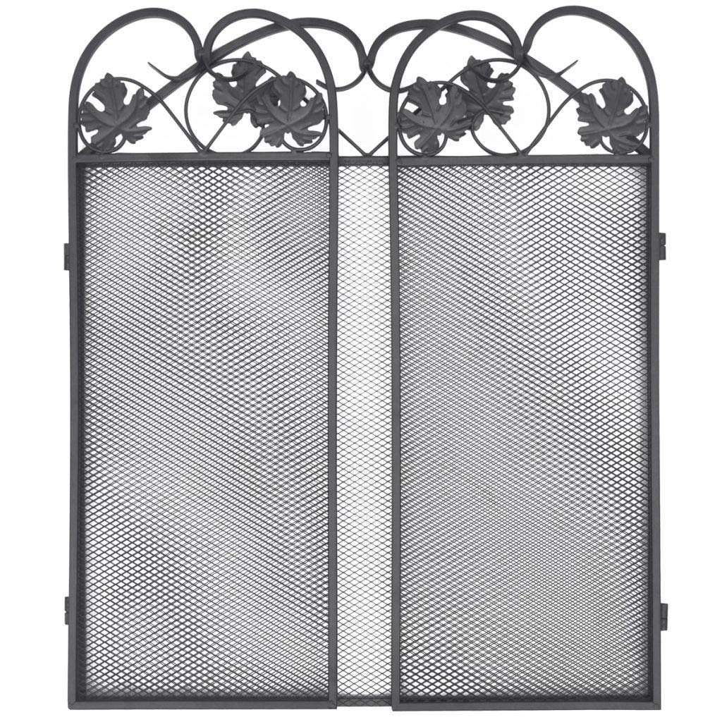binzhoueushopping pantalla del chimenea con 3/Paneles de hierro Negro barreras protectoras barrera chimenea pantalla chimenea