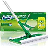 Swiffer Sweeper Dry and Wet Floor Mopping and Cleaning Starter Kit, All Purpose Floor Cleaning Products, Includes: 1 Mop, 7 Dry Pads, 3 Wet Pads