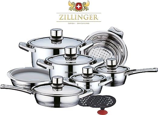 zillinger Swiss 17 piezas Deluxe – Set de ollas y sartenes ...