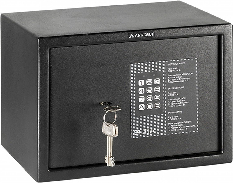 Arregui 31010 Caja fuerte de sobreponer electrónica con llave ...