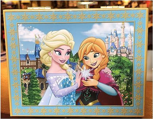 Disney parques Beautiful Elsa Anna Musical joyería Caja de música ...