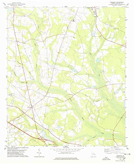 Denmark Topographic Map.Amazon Com Yellowmaps Denmark Ga Topo Map 1 24000 Scale 7 5 X