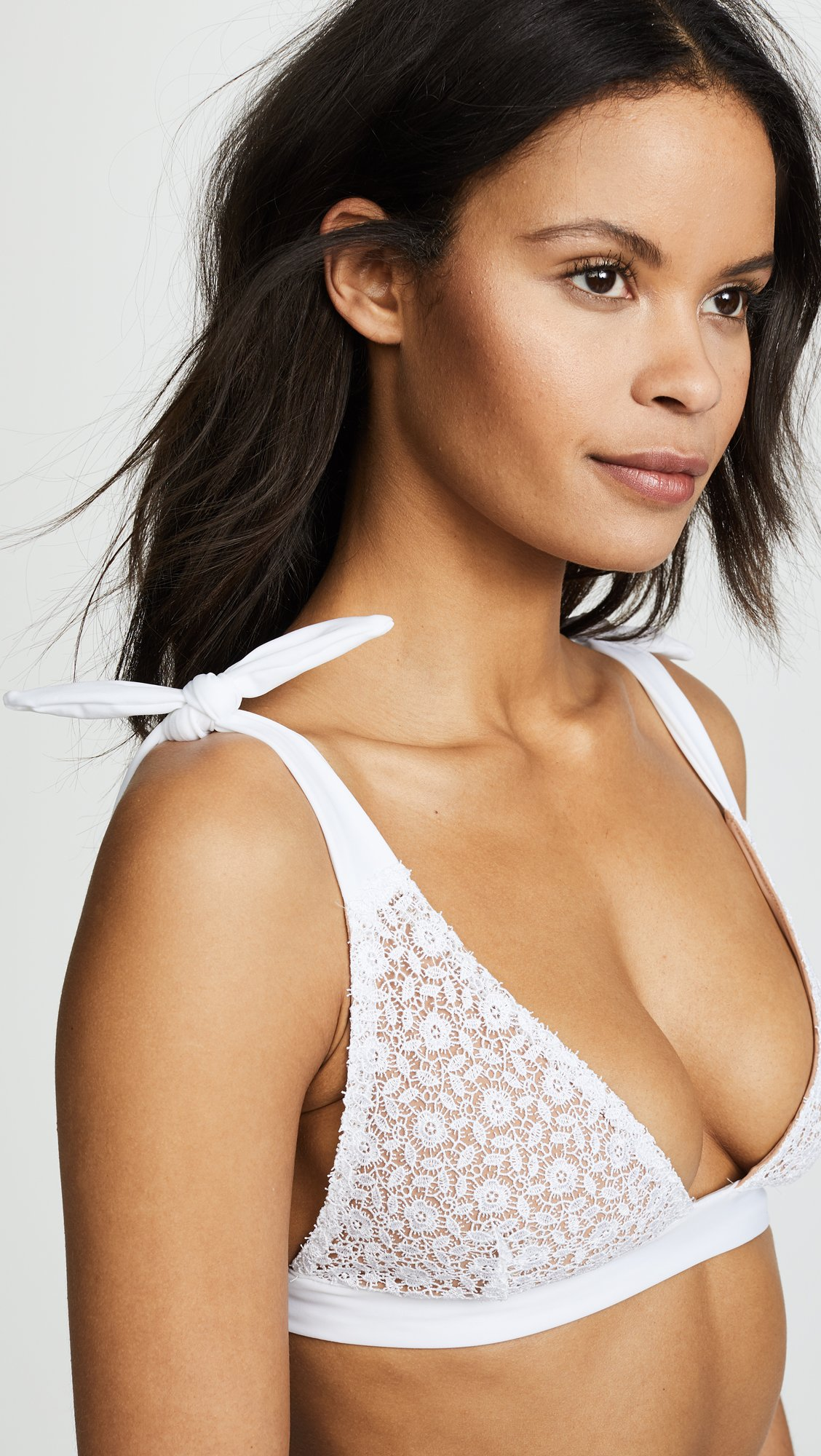 For Love & Lemons Women's Daquiri Lace Bikini Top, White Lace, X-Small by For Love & Lemons (Image #5)