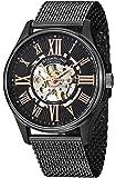 Stuhrling Original Atrium Elite Men's Automatic Watch with Black Dial Analogue Display and Black Stainless Steel Bracelet 747M.03