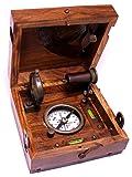 "Bronze Alidade Sundial Compass 4.6"" - Marine Box By"