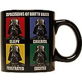 Star Wars Silver Buffalo SW7732 Darth Vader Ceramic Mug, 14-Ounces, 14 oz, Black