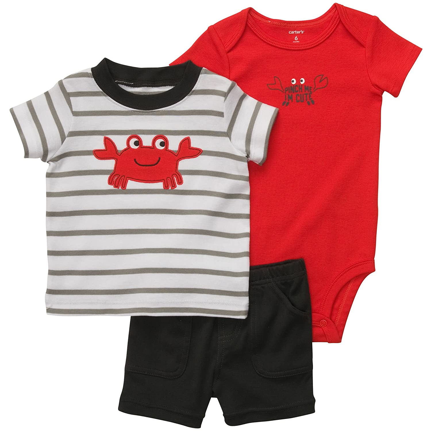 Carters 3-Piece Bodysuit Short Set