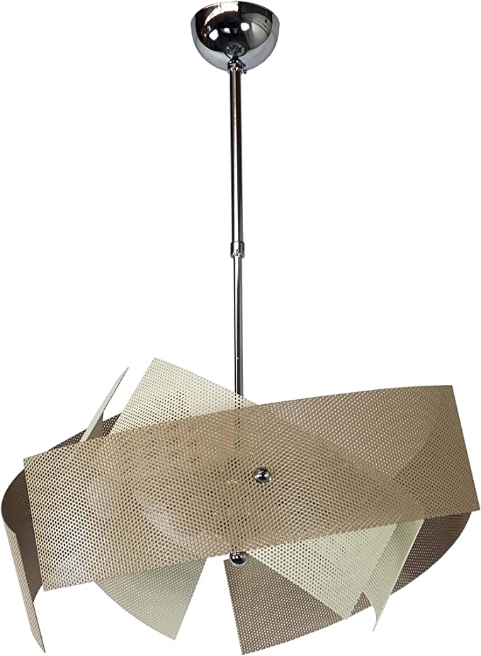 Lampadario Camera 6 Luci Avorio Tortora Moderno Per Cucina Salone Camera Da Letto Camerette Amazon It Illuminazione