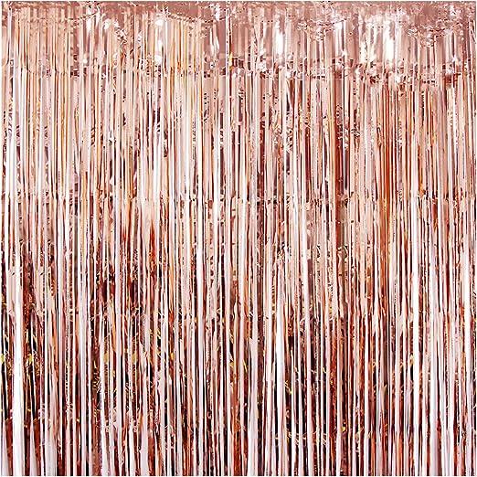 3M Door Tinsel Curtain Foil Fringe Wall Backdrop Tassels Wedding Xmas Decoration