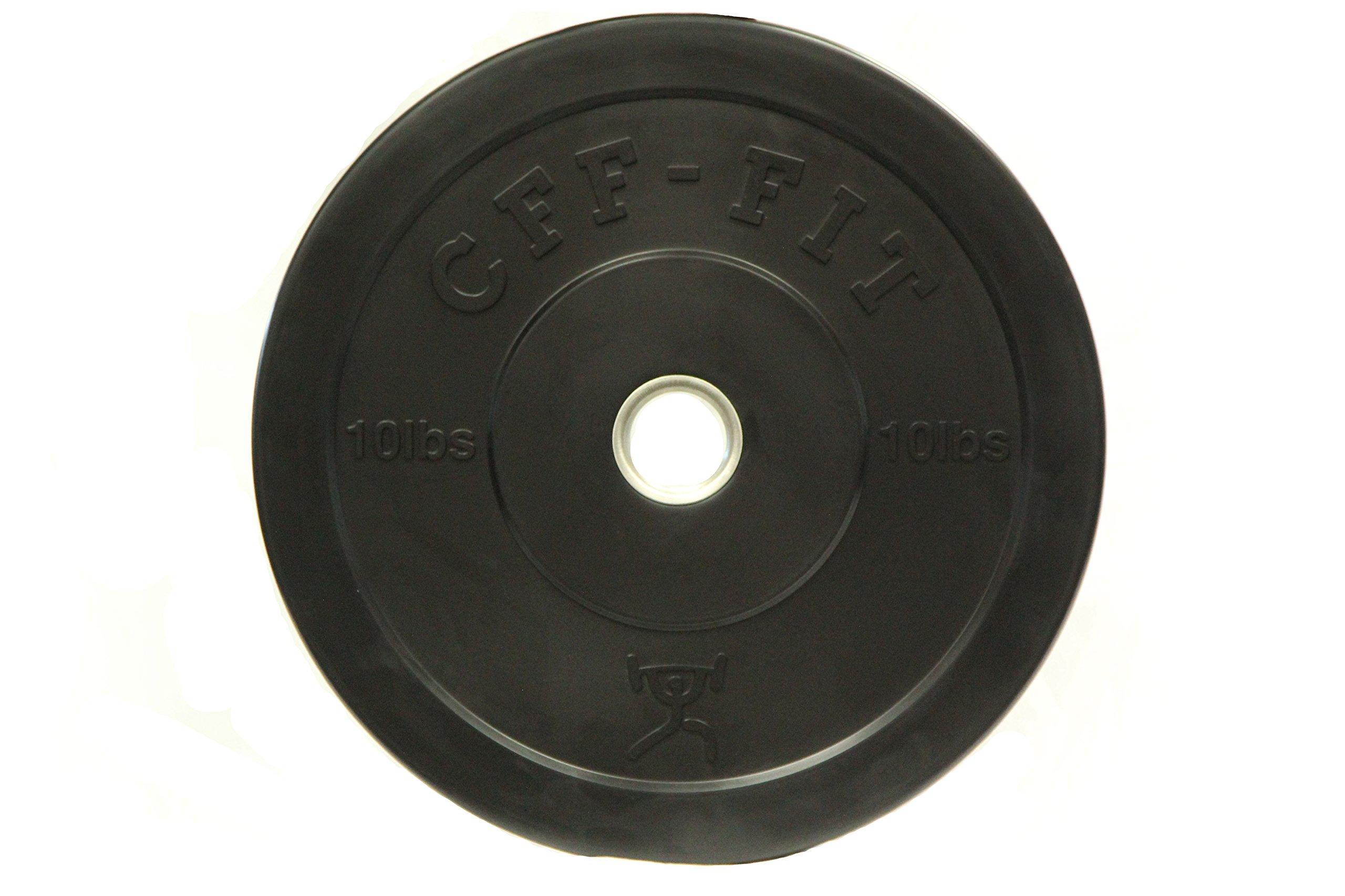 CFF Rubber Bumper Plates, Black, 10 lb