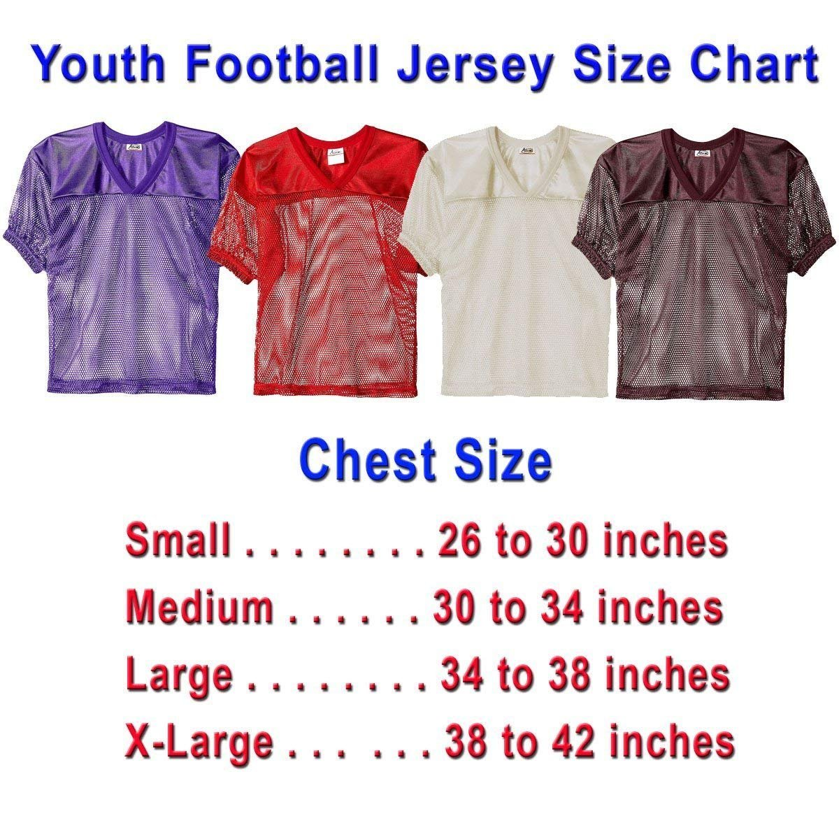 the best attitude c2cec 1dfe6 Adams Youth Football Jerseys, Porthole Mesh Practice Jersey with Dazzle  Shoulders and Elastic Sleeves