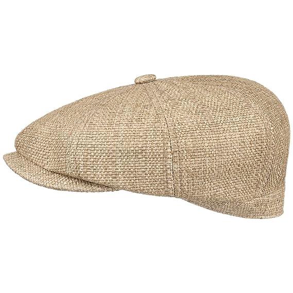 8c671e5b3e9 Stetson Hatteras Fine Toyo Flat Cap Straw Cap Flat hat (XXL (62-63 ...