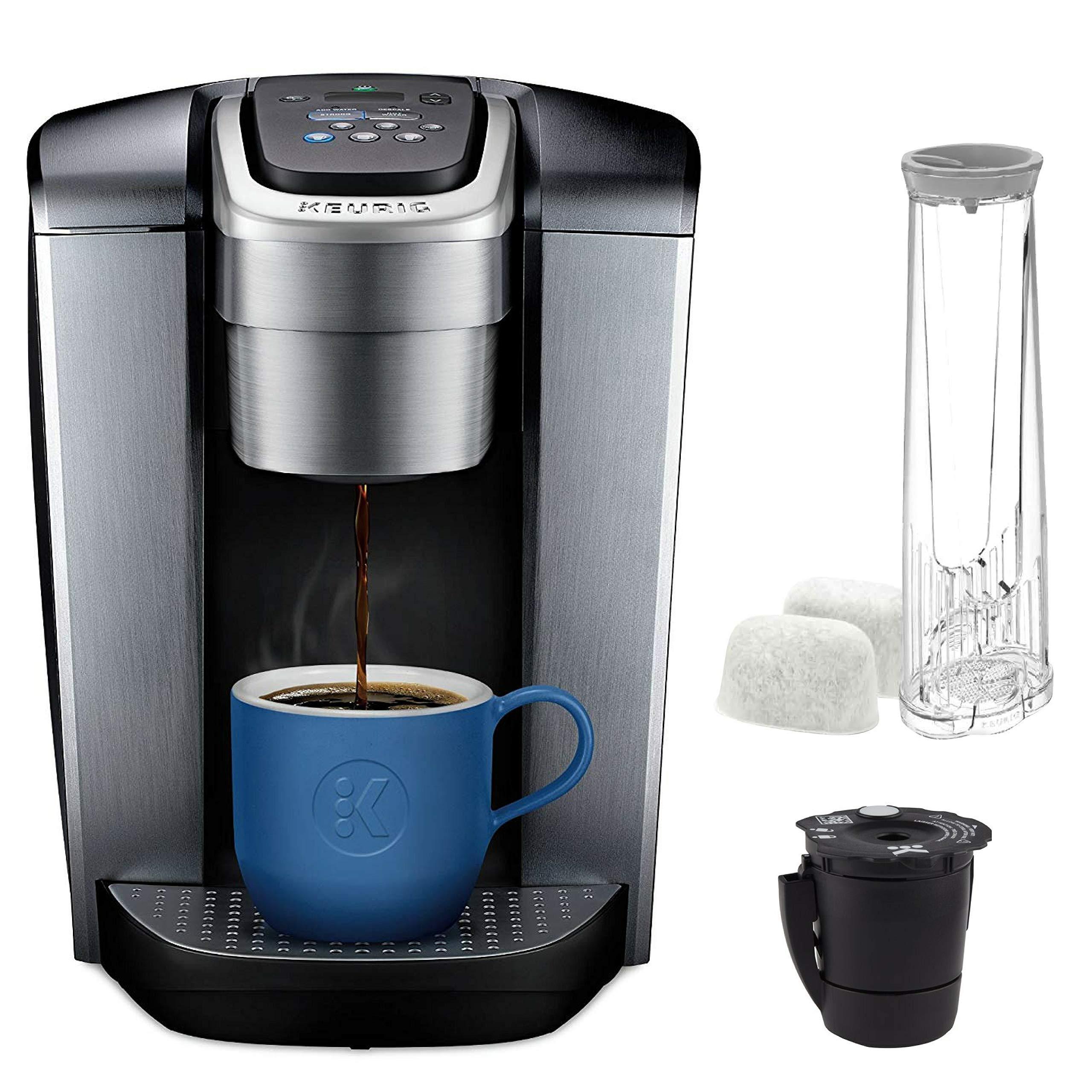 Keurig K Elite with Extra Filter coffee-machine, One Size, Brushed Silver by Keurig