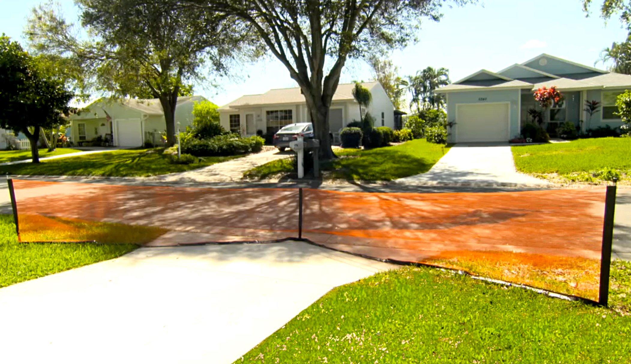 Play It Safe RPDN26 Driveway Net, Large, Orange by Play It Safe (Image #3)
