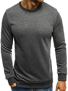 OZONEE Herren Sport Fitness Training Crewneck Täglichen Modern Sweatshirt  Langarmshirt Pullover Warm Basic J. Style be3e1ec26d