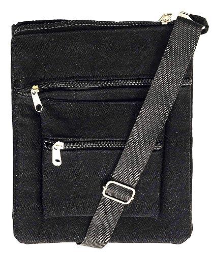 032803002c6 ALEMAH Women s Stylish Multi-Pocket Cotton Denim Cross-body Side Sling Bag  with