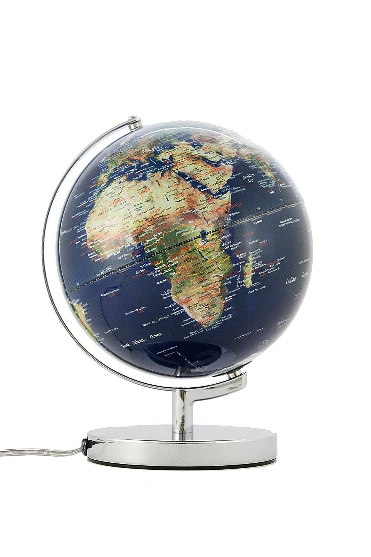 Emform Tischglobus Terra Physical No2 Light, Metall & Kunststoff, 250 x 320 mm, beleuchtet