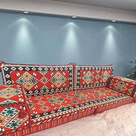 Spirit of 76 Handmade floor sofa set,arabic majlis,arabic jalsa,floor  seating couch,floor cushions,oriental floor seating,hookah bar  furniture,living ...