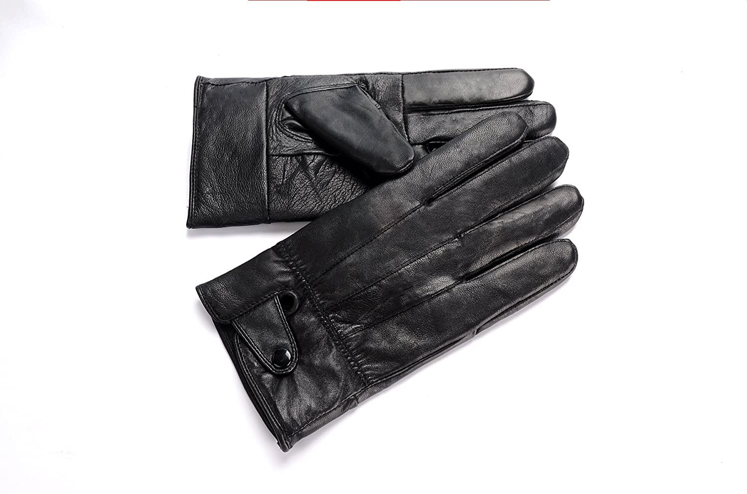 Motorcycle leather gloves amazon - Anccion Men S Genuine Leather Warm Lined Driving Gloves Motorcycle Gloves Medium At Amazon Men S Clothing Store