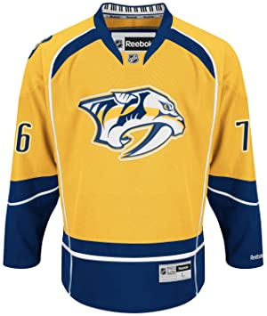 best loved 987cd 014d1 PK Subban Nashville Predators NHL Reebok Premier Jersey ...