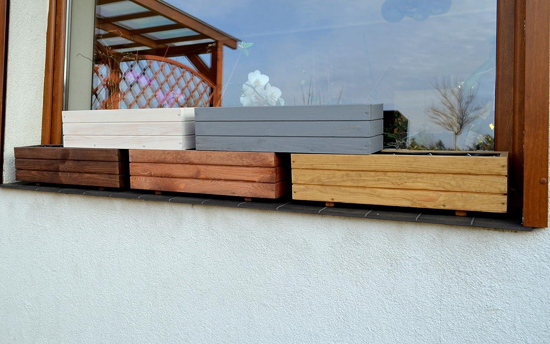 Assembled White Top Wooden Garden//Patio Planter Box D6