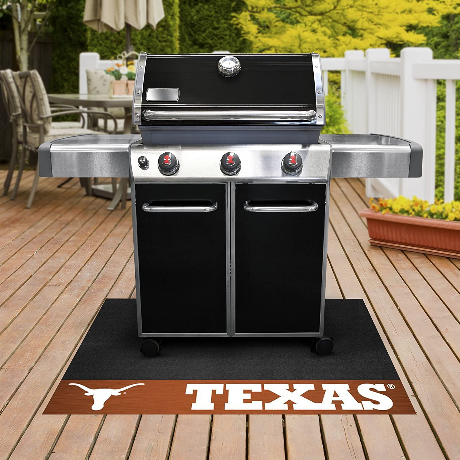 FANMATS NCAA University of Texas Longhorns Vinyl Grill Mat