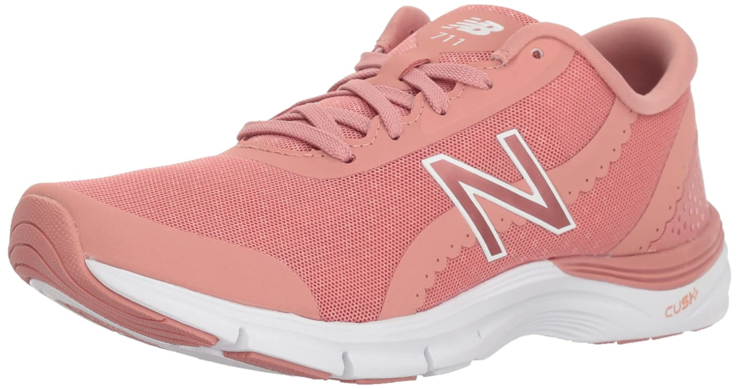 New Balance Women's 711v3 Cross Trainer B0751QFZHG 5.5 B(M) US|Dusted Peach/White