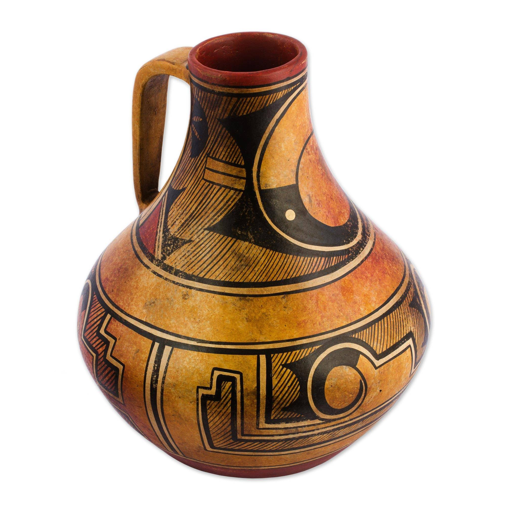 NOVICA Archaeological Large Ceramic Vase, Multicolor, 'Legacy Of The North'