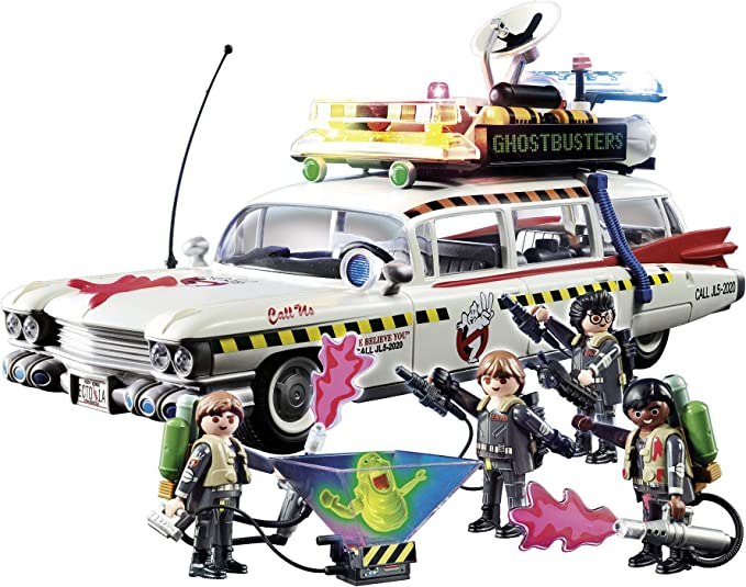 PLAYMOBIL Ghostbusters Ecto-1A con Módulo de Luz y Sonido, a ...