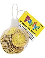 Unique Party - 74030 - Paquet de 30 Pièces de Trésor en Plastique Doré pour Pochettes - Cadeau