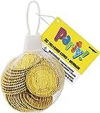Unique Party 74030 - Monete del Tesoro di Plastica d' Oro Regalini per Feste, Confezione da 30